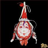 Авторская ёлочная игрушка ручной работы Яйцо пасхальное красное