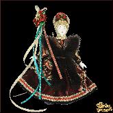 Подвесная кукла в национальном костюме Девушка