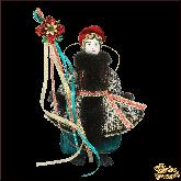 Подвесная кукла в национальном костюме Парень