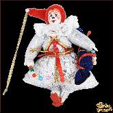 Авторская ёлочная игрушка ручной работы Гном с конфетой