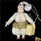 Авторская ёлочная игрушка ручной работы Гном с подарком