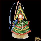 Авторская ёлочная игрушка ручной работы Девушка-ёлка