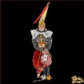 Авторская ёлочная игрушка ручной работы Джокер (сер)