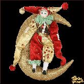Авторская ёлочная игрушка ручной работы Клоун на луне