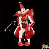 Авторская ёлочная игрушка ручной работы Клоун Полунин