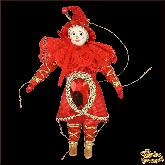 Авторская ёлочная игрушка ручной работы Клоун