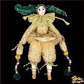 Авторская ёлочная игрушка ручной работы Клоун (сер)