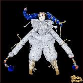 Авторская ёлочная игрушка ручной работы Клоун( сер)