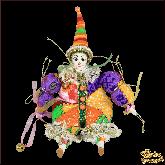 Авторская ёлочная игрушка ручной работы Клоун (фиолетовый)