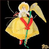 Авторская ёлочная игрушка ручной работы Клоунесса с сачком