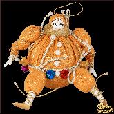 Авторская ёлочная игрушка ручной работы Клоун-шар