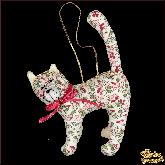 Авторская ёлочная игрушка ручной работы Кот