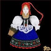 Авторская ёлочная игрушка ручной работы Красная шапочка