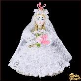 Авторская ёлочная игрушка ручной работы Невеста