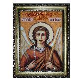 Ангел Хранитель икона из янтаря уникальной силы