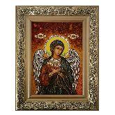 Ангел Хранитель Православная икона из янтаря