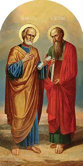 Цена иконы Ап. Петр и Павел АПП-01-3 24х12