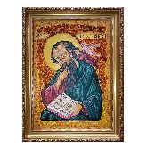 Апостол и евангелист Иоанн Богослов масло и янтарь