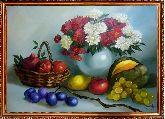 Астры и фрукты