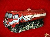 Фарфоровый штоф Автомобиль Машина КАМАЗ (цветная с золотом)