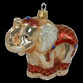 Ёлочная игрушка из Польши Индийский слон