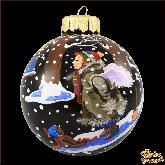 Ёлочный шар ручной работы Вкусный снег