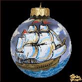 Ёлочный шар ручной работы Корабль