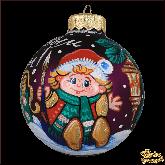 Ёлочный шар ручной работы С новым годом!