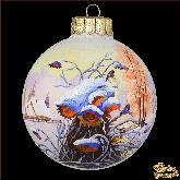 Ёлочный шар ручной работы Подсолнухи