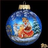 Ёлочный шар ручной работы Аленушка с козленком