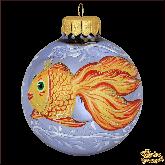 Ёлочный шар ручной работы Золотая рыбка