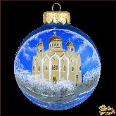Ёлочный шар ручной работы Собор
