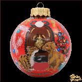 Ёлочный шар ручной работы У камина