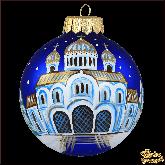 Ёлочный шар ручной работы Храм Христа Спасителя