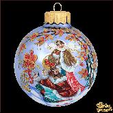 Ёлочный шар ручной работы Птицелов в стиле палех