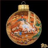 Ёлочный шар ручной работы Кот-Чистюля