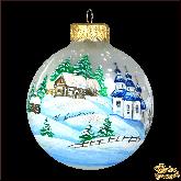 Ёлочный шар ручной работы Мороз