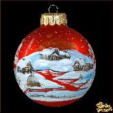 Ёлочный шар ручной работы Багряный закат