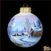 Ёлочный шар ручной работы Зимний день