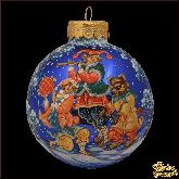 Ёлочный шар ручной работы Шуты с медеведем