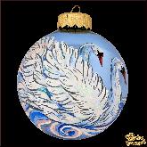 Ёлочный шар ручной работы Лебеди