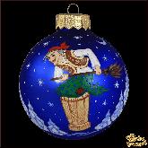 Ёлочный шар ручной работы Баба Яга