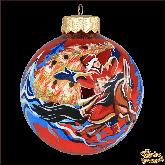 Ёлочный шар ручной работы Конёк-горбунок крас