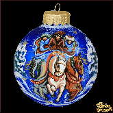 Ёлочный шар ручной работы Тройка