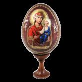 Пасхальное яйцо деревянное с наклейкой  Иверская