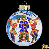 Ёлочный шар ручной работы Три скомороха