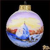 Ёлочный шар ручной работы Кормушка
