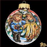 Ёлочный шар ручной работы Дети