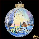 Ёлочный шар ручной работы Избушка
