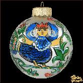 Ёлочный шар ручной работы Птица Сирин